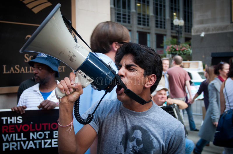 Occupy Chicago Editorial Photography