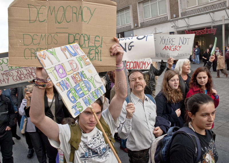 Download Occupy Exeter  March Through Exeter C Editorial Photo - Image: 22044091