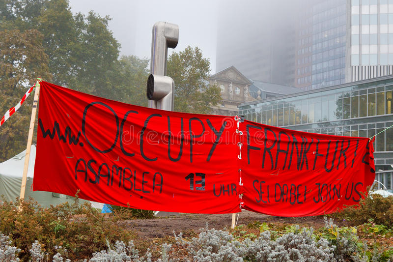 Occupy Frankfurt Protests Editorial Photo