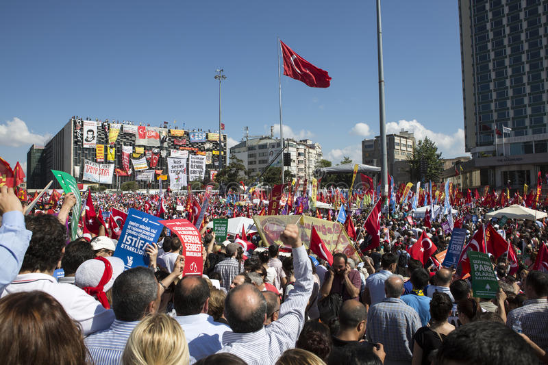 Occupy Gezi, Taksim, Istanbul royalty free stock images