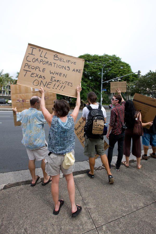 Download Occupy Honolulu/anti-APEC Protest-30 Editorial Stock Photo - Image: 21924423