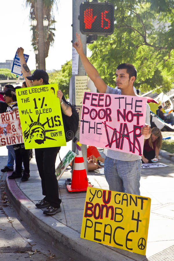 Download Occupy LA Demonstration In Los Angeles Editorial Photo - Image: 21498586