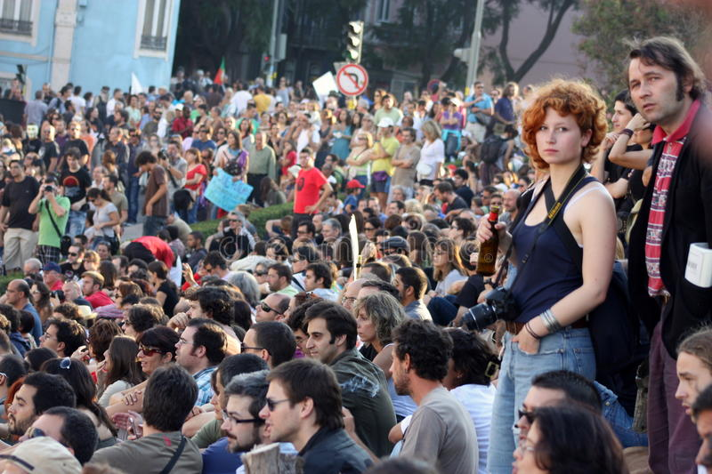 Download Occupy Lisbon - Global Mass Protests 15 October Editorial Stock Image - Image: 21599669