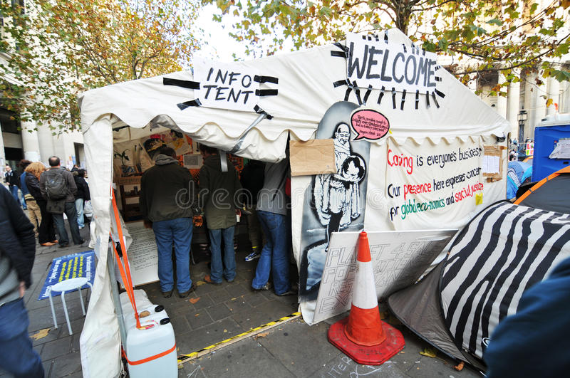 Download Occupy London info tent editorial image. Image of camped - 22718215
