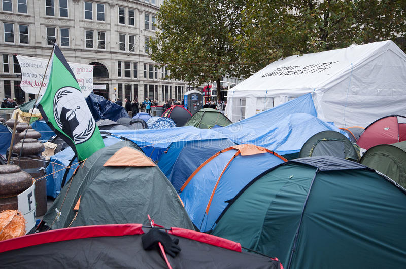 Occupy London Tent Camp Editorial Photography