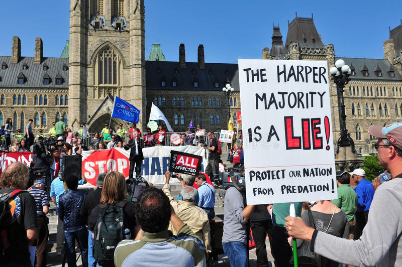 Occupy protest anniversary in Ottawa royalty free stock images
