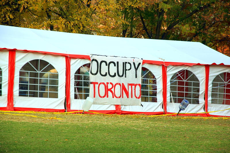 Occupy Toronto Editorial Stock Photo