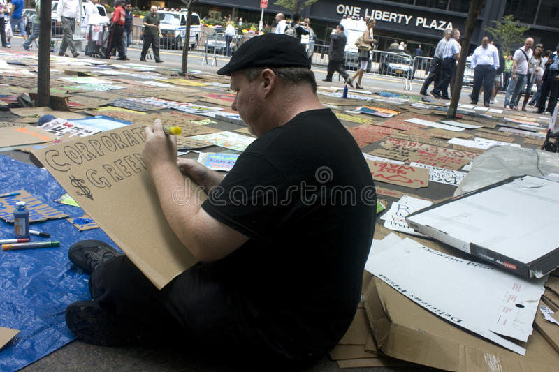 Download Occupy Wall St. editorial stock photo. Image of crowds - 21339873
