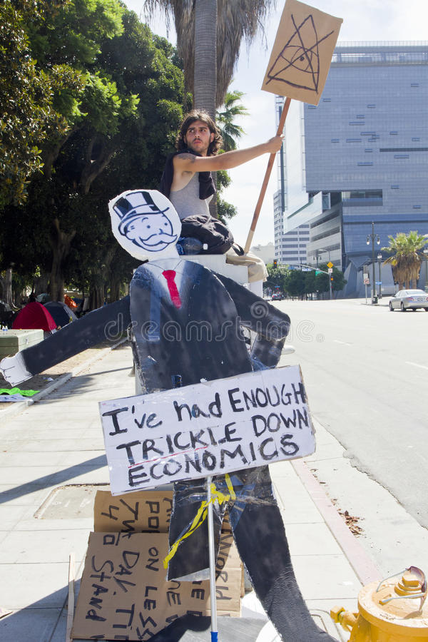 Download Occupy Wall Street LA Protest In Los Angeles Editorial Stock Image - Image: 21409034