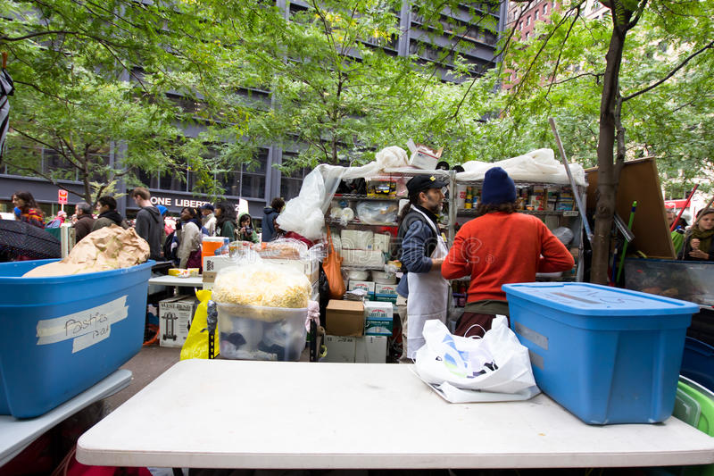 Download Occupy Wall Street Protest editorial image. Image of food - 21750645