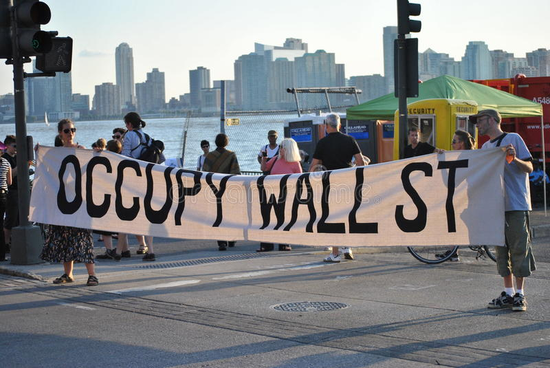 Download Occupy wallstreet editorial stock photo. Image of young - 26136998