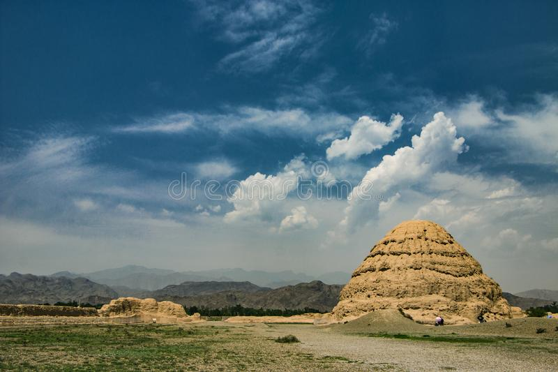 Western Xia mausoleums royalty free stock image
