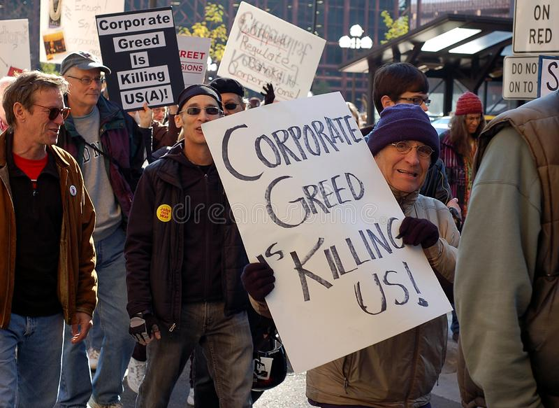 OccupyMN. Protestation images stock