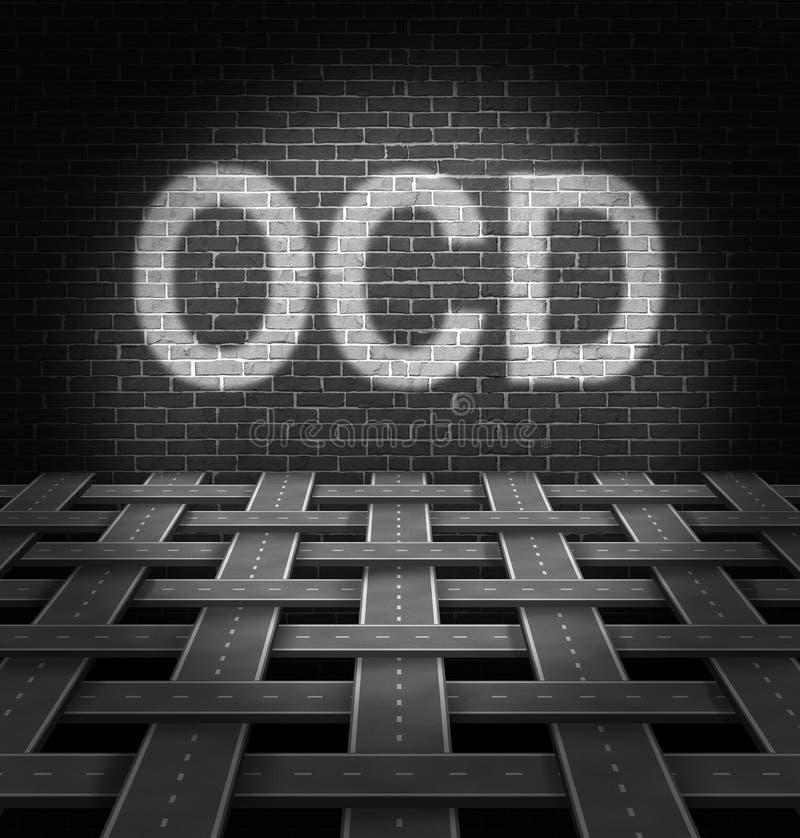OCD-Konzept vektor abbildung