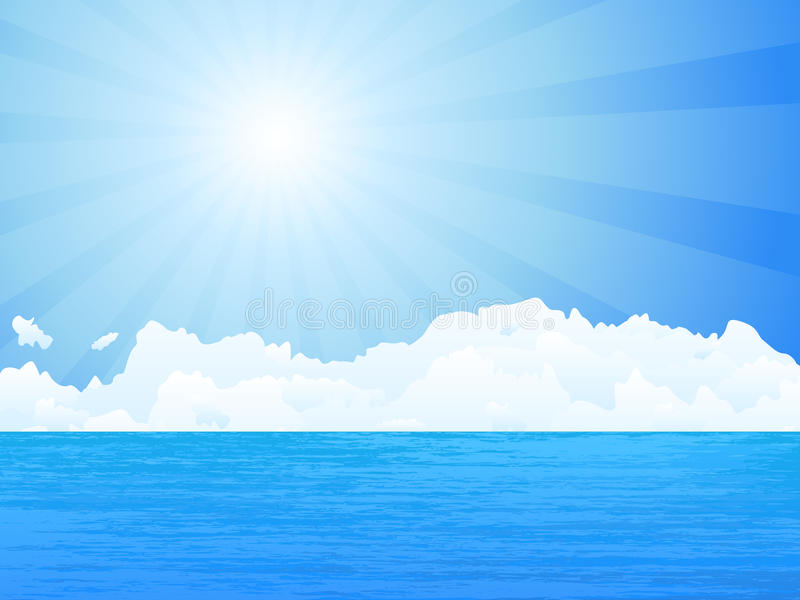 Oceaan stock illustratie