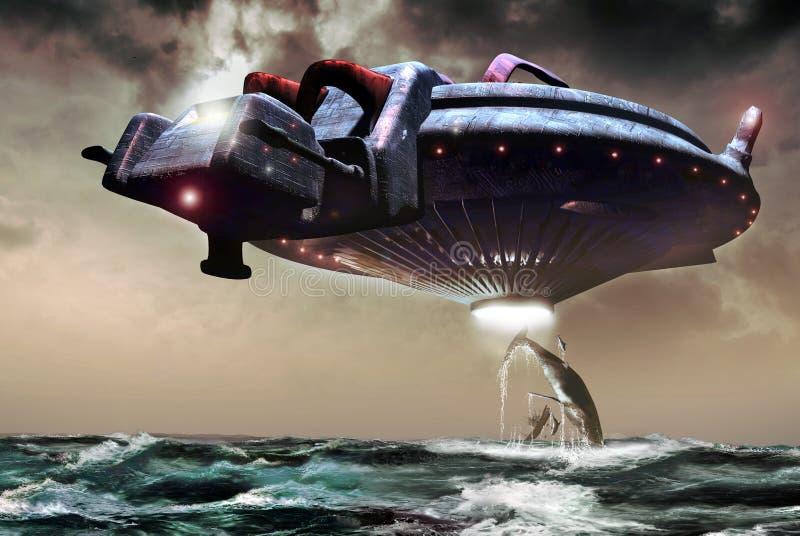 Oceaan abductie vector illustratie