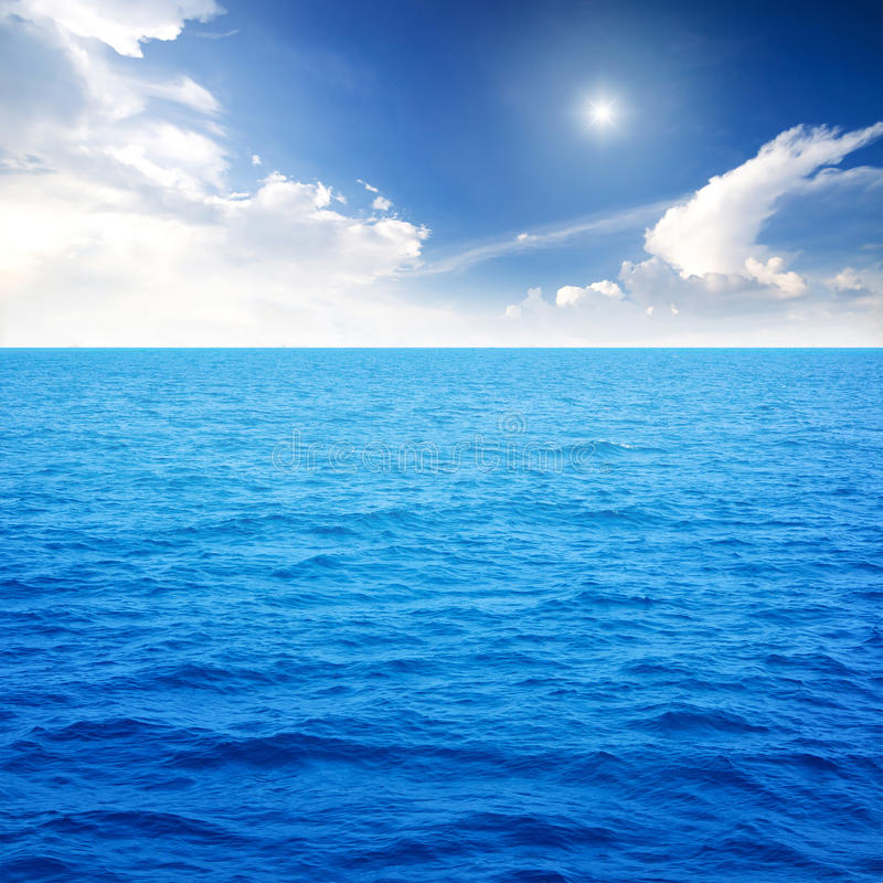 Oceaan blauw stock foto's