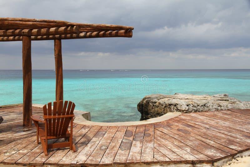 Oceaan dek stock fotografie