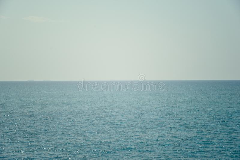 Oceaan en hemel stock foto's