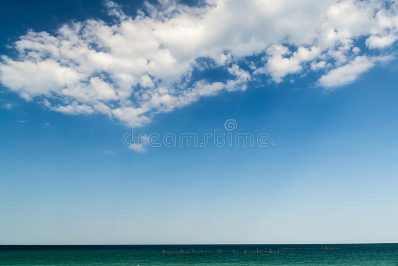 Oceaan en Hemel stock foto