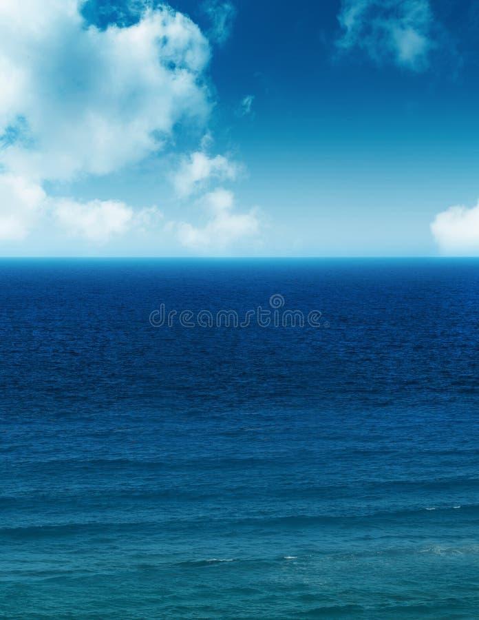 Oceaan en wolken stock foto's