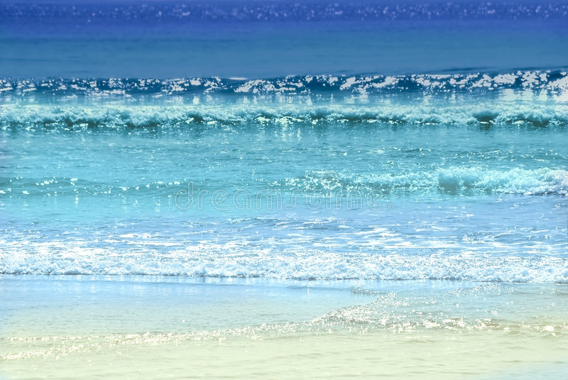 Oceaan kleuren royalty-vrije stock foto