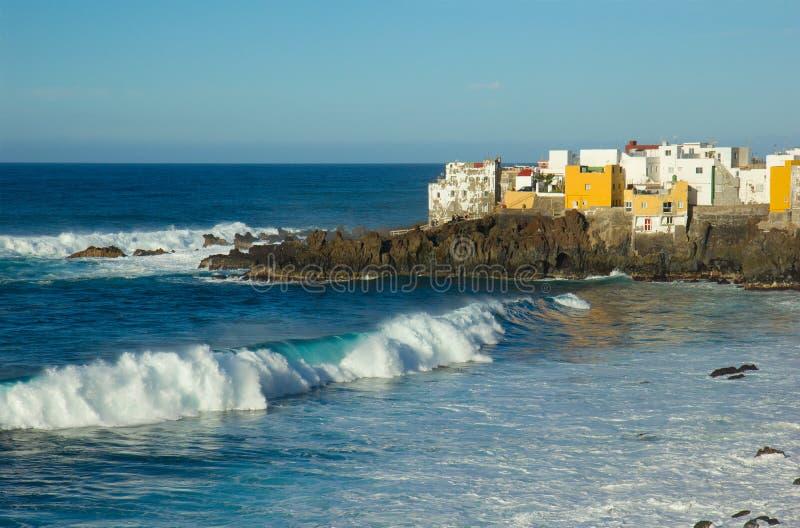 Oceaan kust in Puerto DE La Cruz, Tenerife, Spanje stock foto