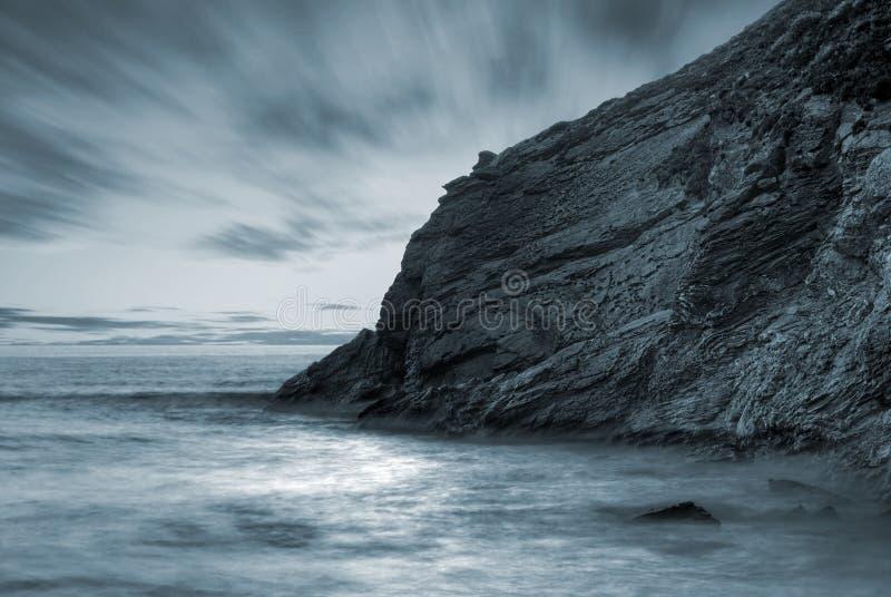 Oceaan landschap stock afbeeldingen