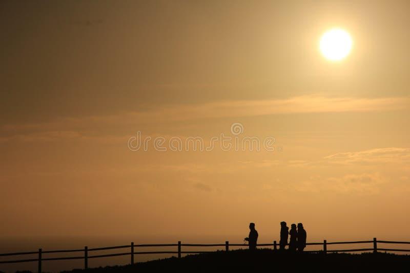 Oceaan, landschap, vangrail, Portugal stock fotografie