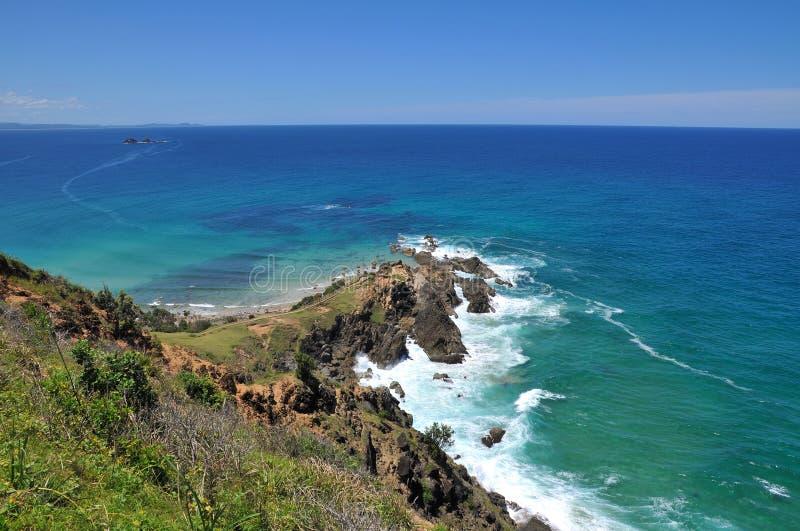 Oceaan mening bij Byron Baai, Australië stock fotografie