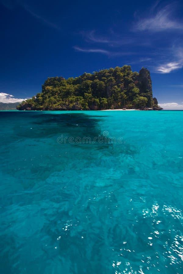 Oceaan Mening van eilandparadijs royalty-vrije stock foto