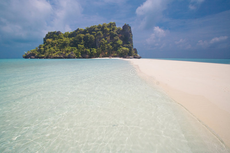 Oceaan Mening van paradijseiland royalty-vrije stock fotografie