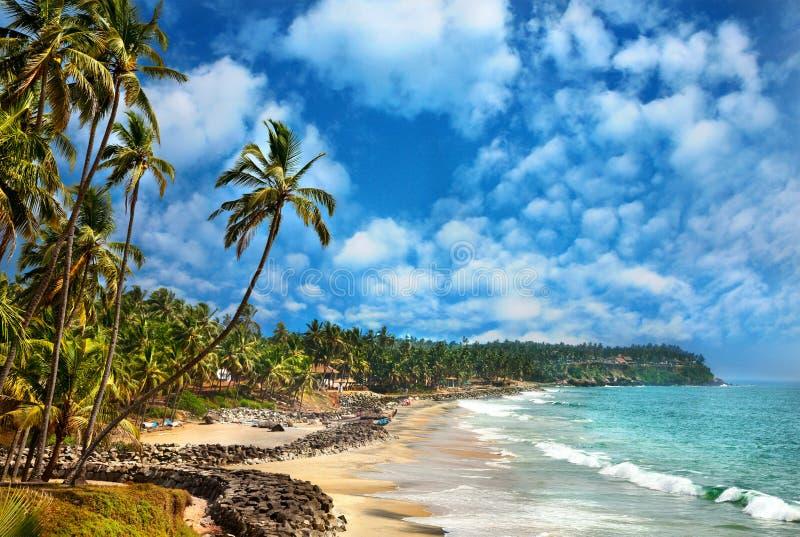 Oceaan mening in Varkala Kerala India royalty-vrije stock foto