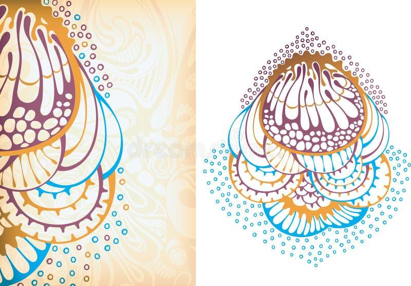 Oceaan micro-organisme 1 royalty-vrije illustratie