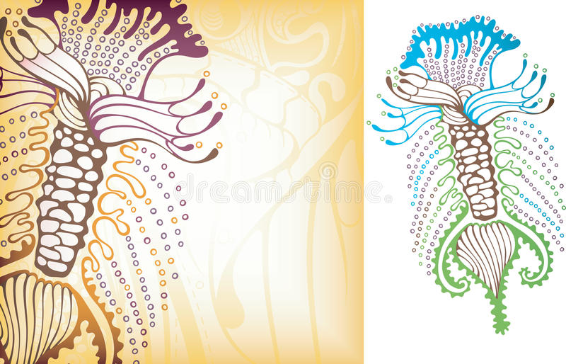 Oceaan micro-organisme 2 royalty-vrije illustratie