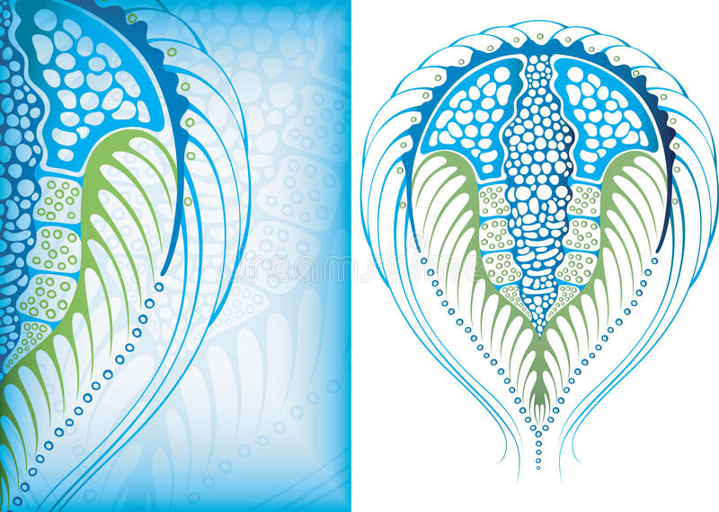 Oceaan micro-organisme 3 vector illustratie