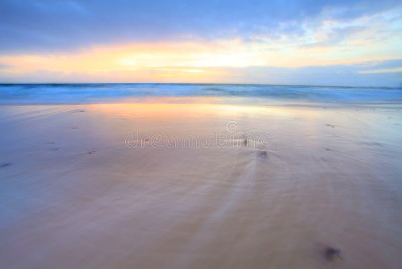 Oceaan in Motie stock afbeelding