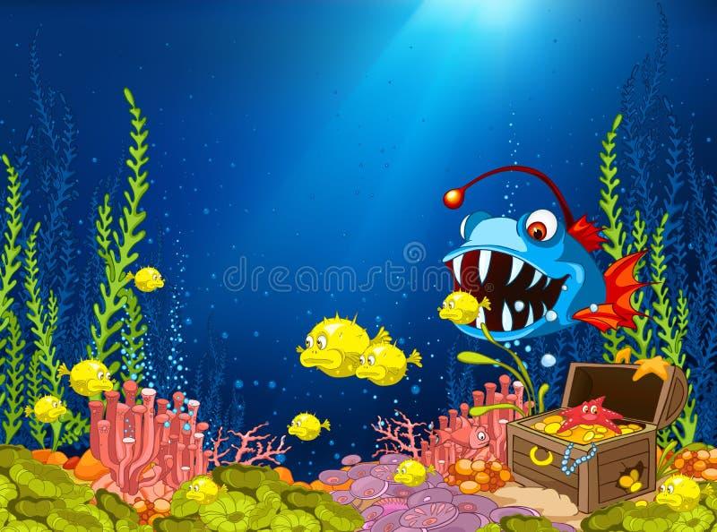 Oceaan OnderwaterBeeldverhaal vector illustratie