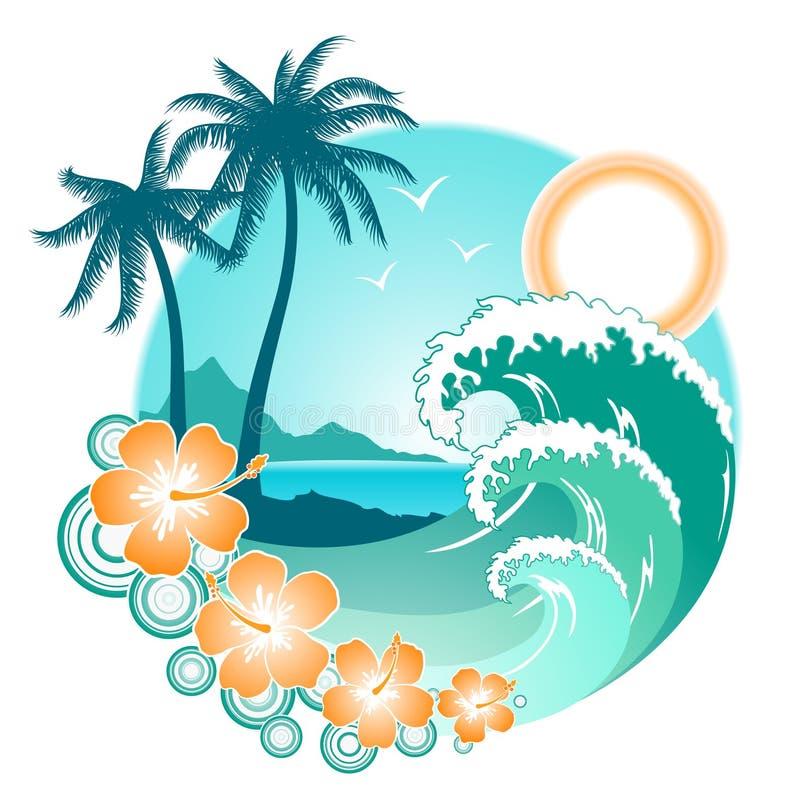 Oceaan ontwerp royalty-vrije illustratie
