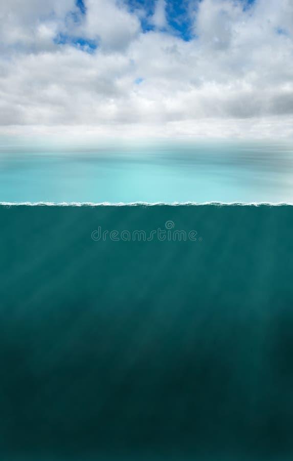 Oceaan Overzeese Zeevaart Onderwaterachtergrond royalty-vrije stock fotografie