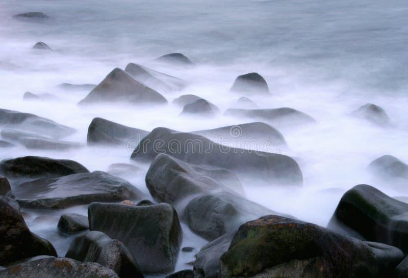 Oceaan Rotsen royalty-vrije stock afbeeldingen