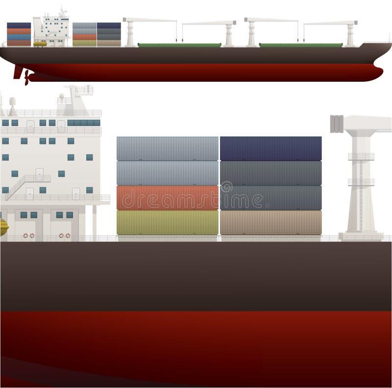Oceaan Schip stock illustratie