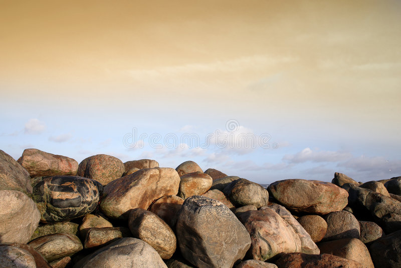 Oceaan stenen royalty-vrije stock fotografie
