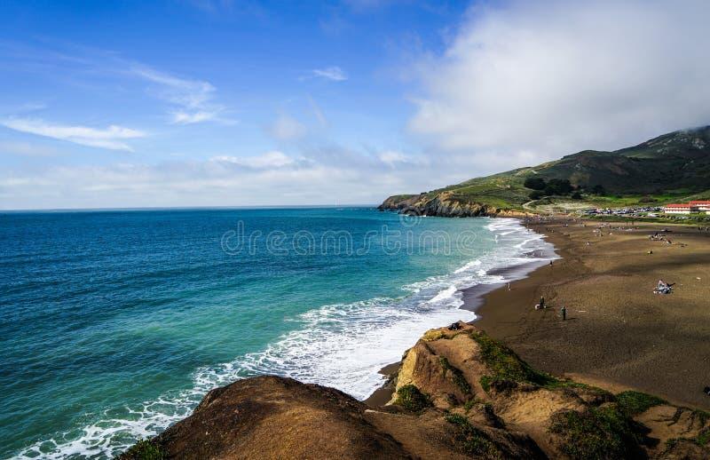 Oceaan Strand in San Francisco royalty-vrije stock afbeelding