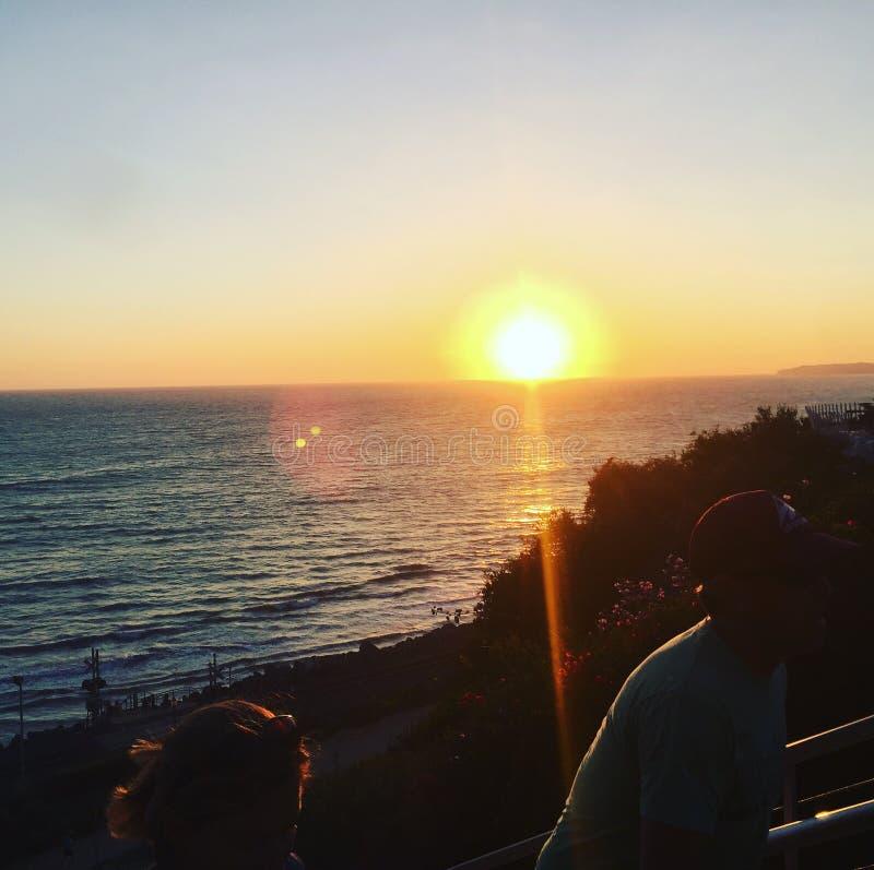 Oceaan Sunset stock afbeelding