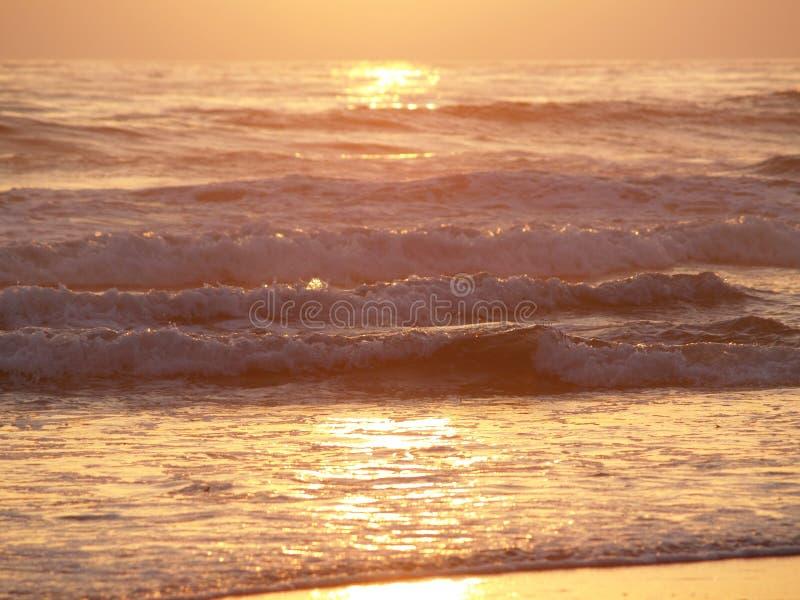 Oceaan Sunset royalty-vrije stock afbeelding