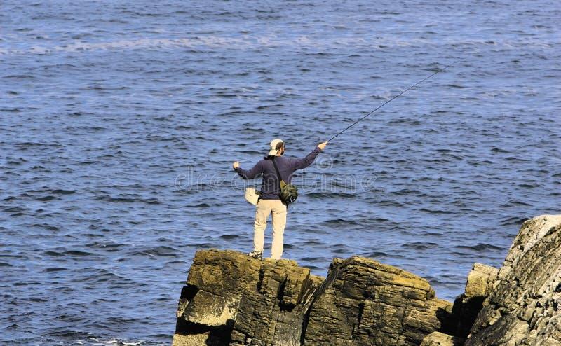 Oceaan vlieg visserij stock afbeeldingen