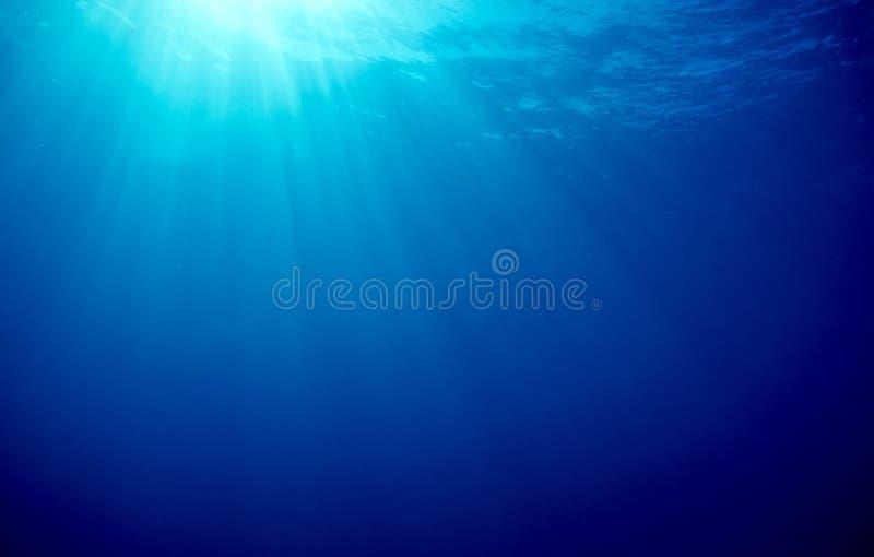Oceaan Zonnestralen royalty-vrije stock fotografie