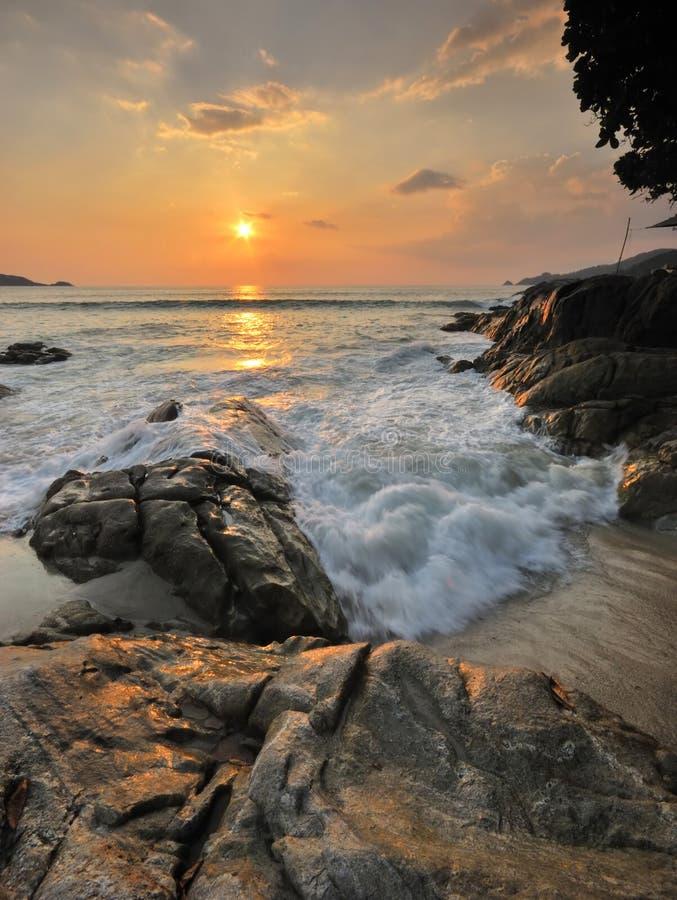 Oceaan zonsondergang stock fotografie