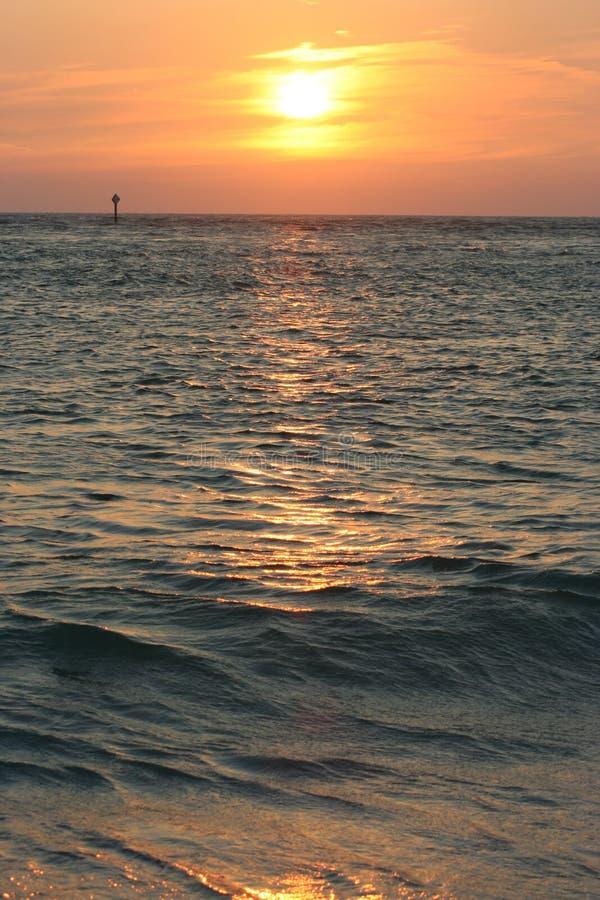 Oceaan zonsondergang stock foto's